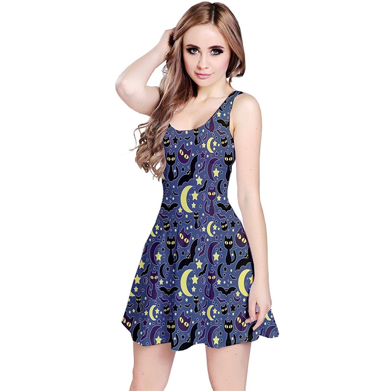 CowCow Womens Cute Cats Dogs Animals Pet Pug Pulldog Swan Bird Tiger Sleeveless Dress, XS-5XL