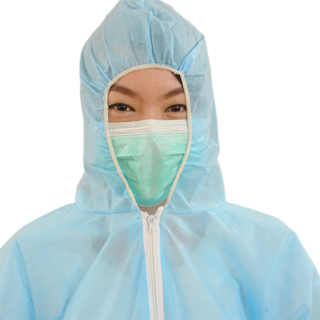 Nonwoven डिस्पोजेबल संरक्षण कपड़ों Workwear Coverall