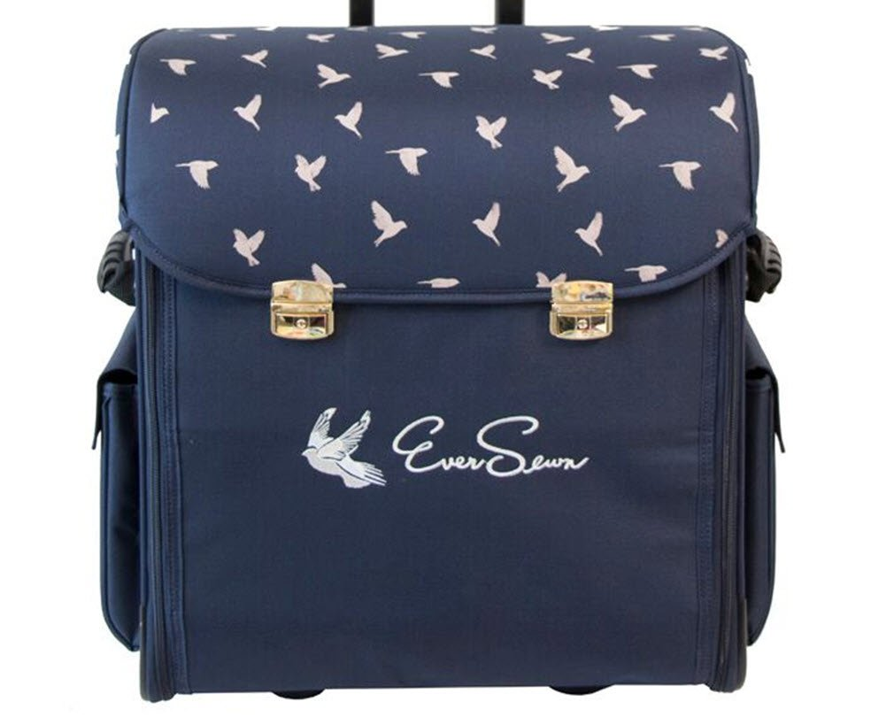 Eversewn Sewing Machine Rolling Tote (Navy)