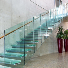 Personalizzato moderno design in vetro <span class=keywords><strong>passo</strong></span> free standing commerciale stair gradini scala