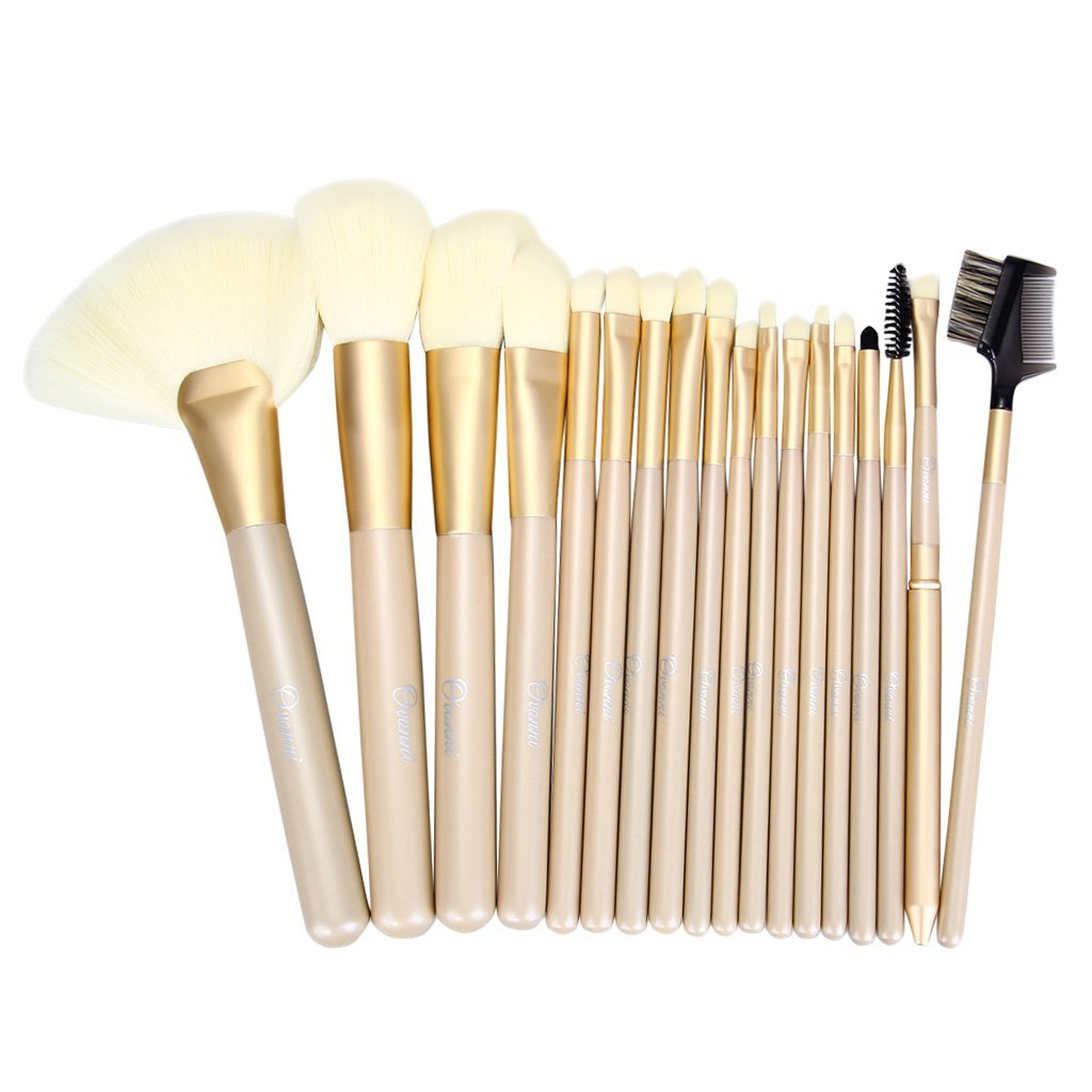 "Optimal Makeup Brush Set / makeup brushes / makeup brush set at cosmetics members to those looking for a weaker and hair soft casting of Ovonni luxury makeup brush set / your skin ""Makeup Brush set"" 18pcs luxury professional makeup brush set with korean synthetic hair"