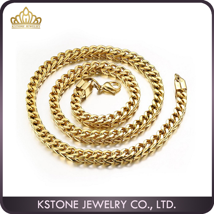 chain yellow link mens colossal gold cuban solid chains miami pin