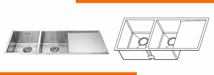 cheap prices double bowl stainless steel undermount kitchen hand wash sink - Kitchen Sinks Cheap Prices