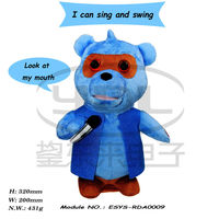 Singer Stuffed Plush Bear With Complete Fashion Outfit Jacket