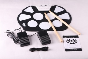 Music Instrument USB Roll Up Drum Kit W758 Electronic Drums Kit for Kids