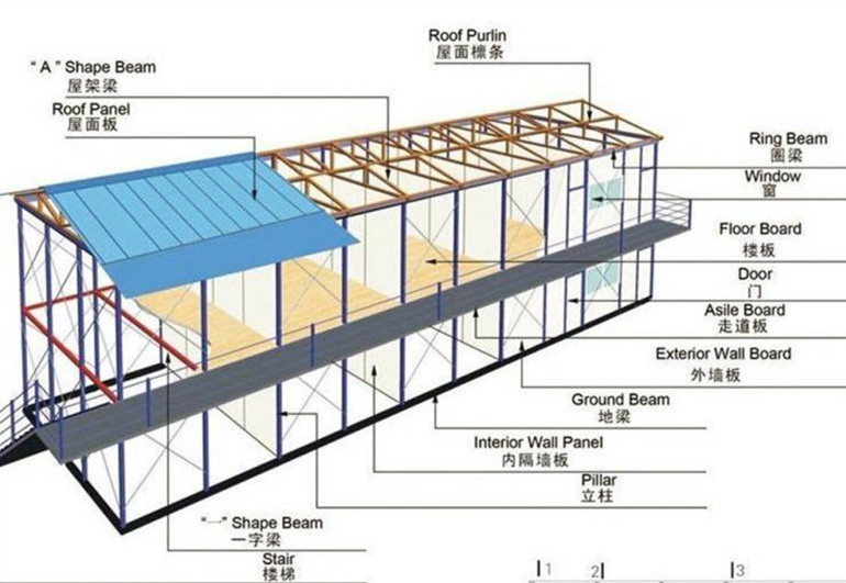 Chalet House Kit Prefab House Low Cost 100m2 Prefab House Plans