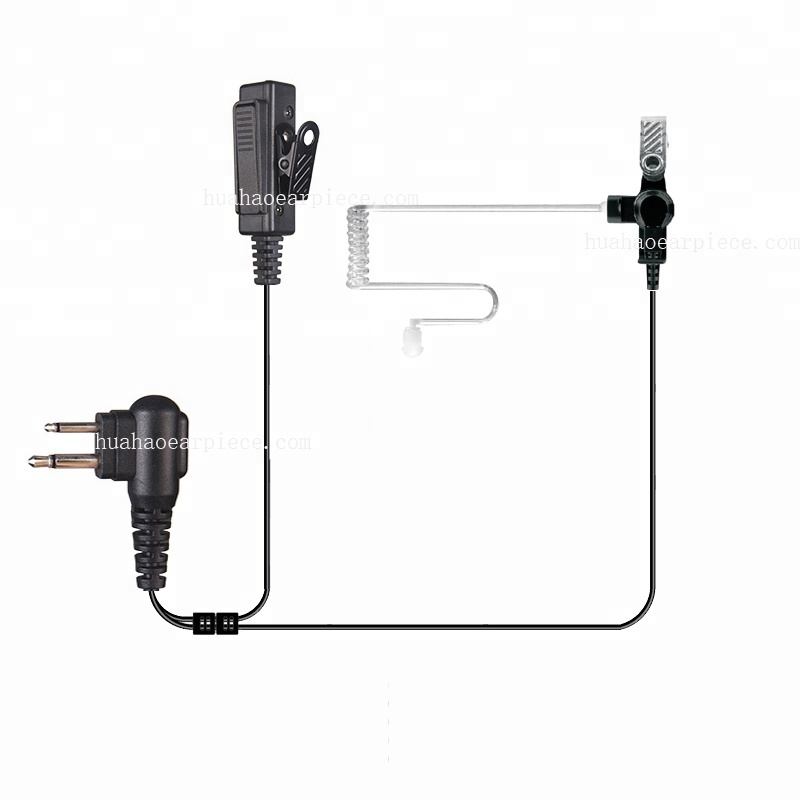 2-Wire Clear Coil Acoustic Ear Tube Surveillance Kit for Motorola Visar Series