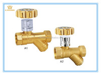 7001Brass Magnetic Locking Filter 3 Way Ball Valve With Female Thread
