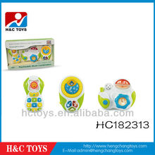 Baby plastic musical toy set with music and light HC182313