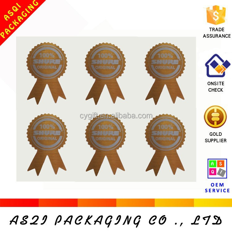 custom made innovative shape removable sticker for gift packing