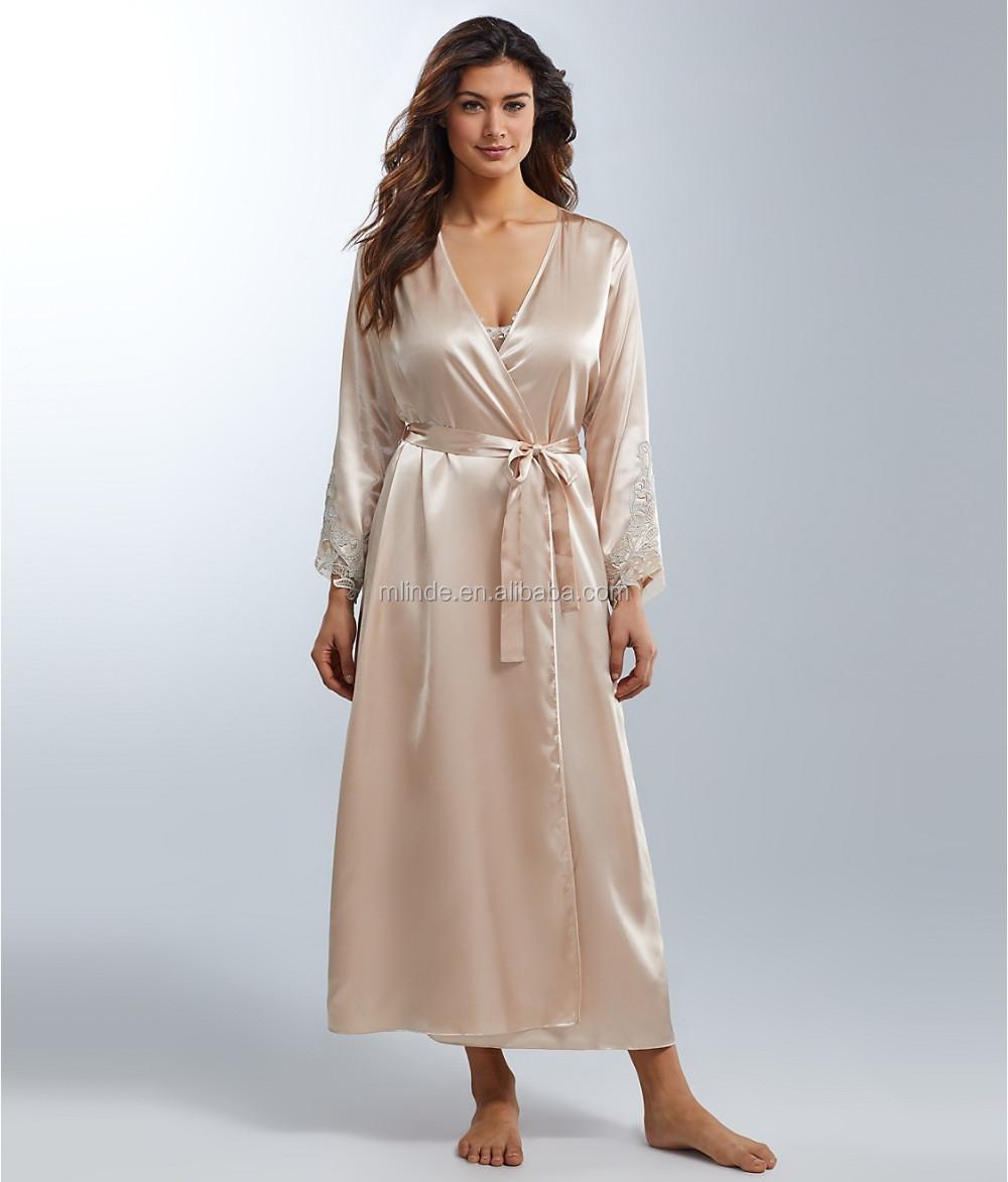Cheap Robe For Elegant Women Fashion Stain Long Sleeve Robes Pajamas Sleepwear Long Bathrobes Pajamad Pyjamas Online Shopping Buy Cheap Robes Long Sleeve Satin Robe Long Elegant Robes Product On Alibaba Com
