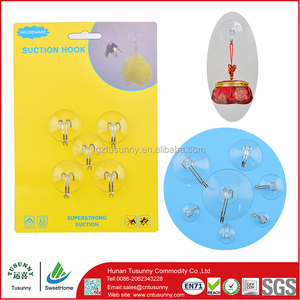 PVC material mini suction cup hooks/mini hook
