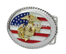 engrave 3d military belt buckles brass