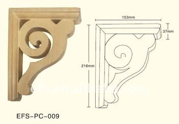 Exquisite Hand Carved Wood Corner Brackets Wood Shelf