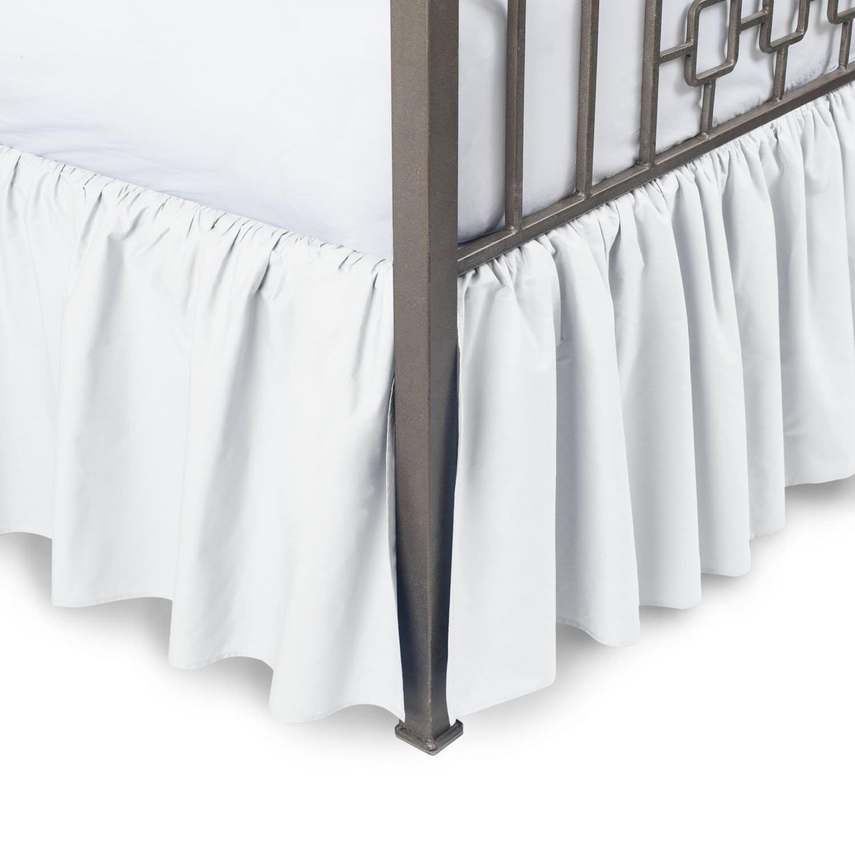 Get Quotations Sculpture Queen Ruffle Bed Skirt 12 Inch Drop 600 Thread Count 100 Long