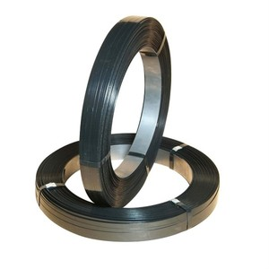 black painted packing steel strapping band Oscillated wound black waxed metal strapping