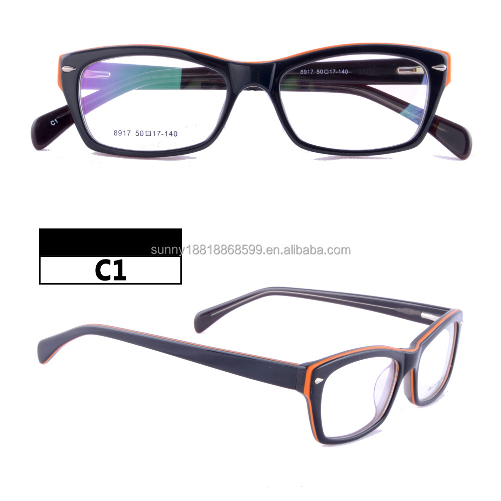 35f14c7030 Last designer hot sale optical frame Acetate spectacles contrast color  eyewear 8917