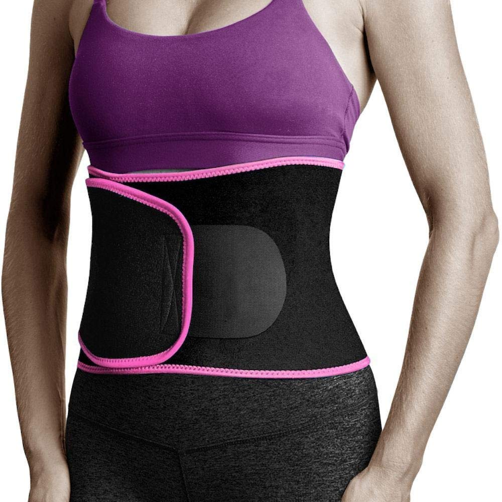 Aolvo Waist Trimmer Adjustable Wide Waist and Back Support Stomach Fat Burner Premium Weight Loss Ab Belt for Men & Women Sweat Enhancer AB Belt for Sauna Gym Workout and Exercise