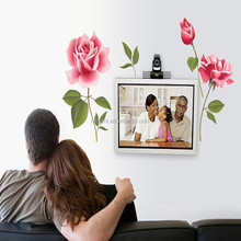 Romantic Rose Flower Love 3d Wall Sticker Home Decor Living Room Bedroom kitchen flower shop Decals Mother's Day gift Home Decor