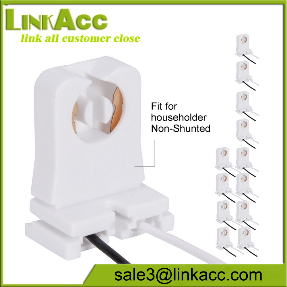 Usa Market G13 Non Shunted Socket U Listed T8 T10 Tube Light Lamp Holder Tombstone Fixture Holder With 10 Inches Wires Attached Buy T8 Lamp