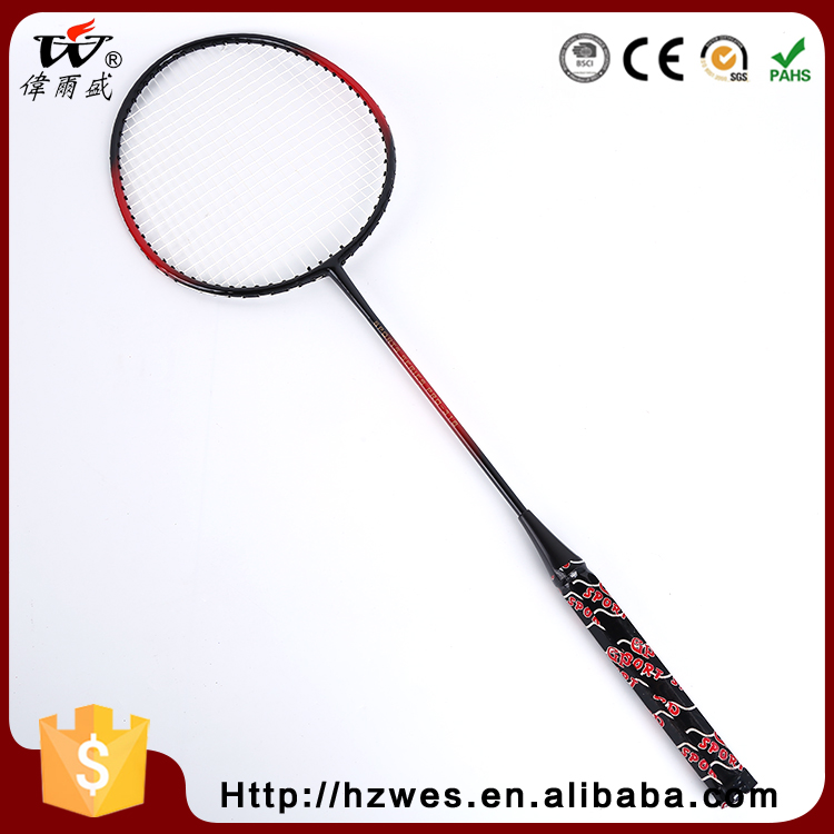 China Manufacturer Glossy OEM ODM Iron Badminton Racquets with T Joint
