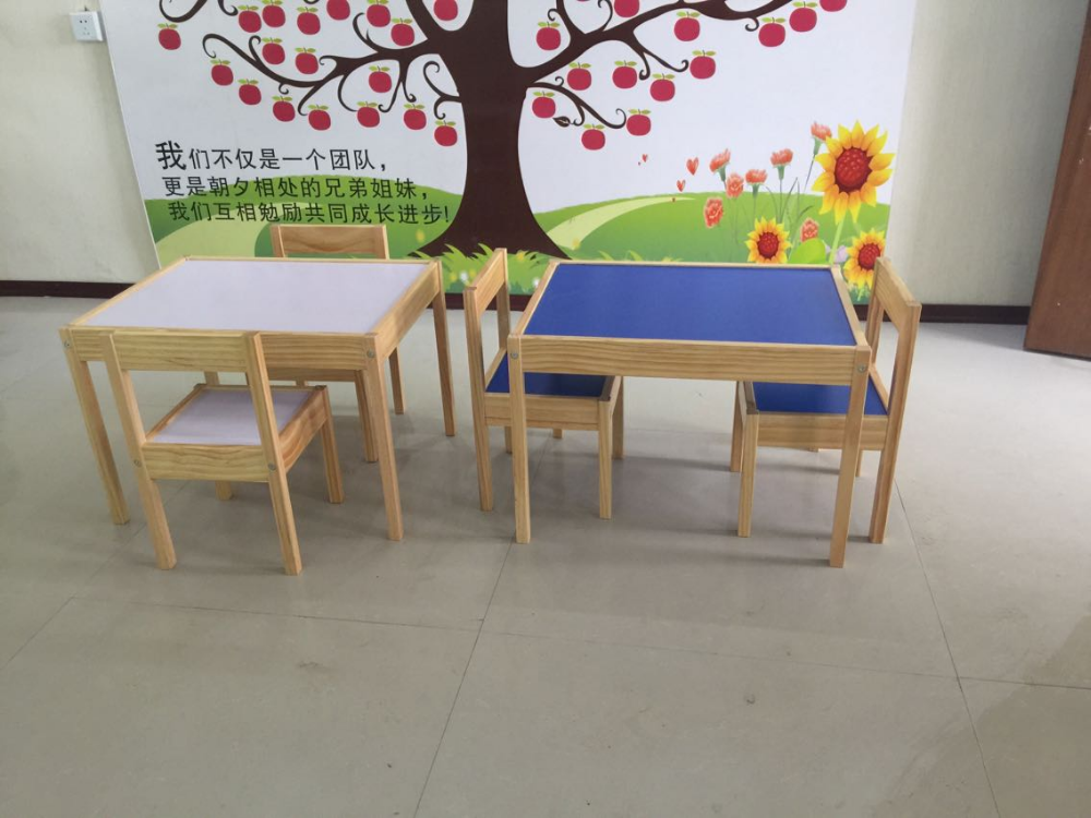 Kids KD Study Table And Chair School Furniture/classroom Wood Kids Table  New Design Low