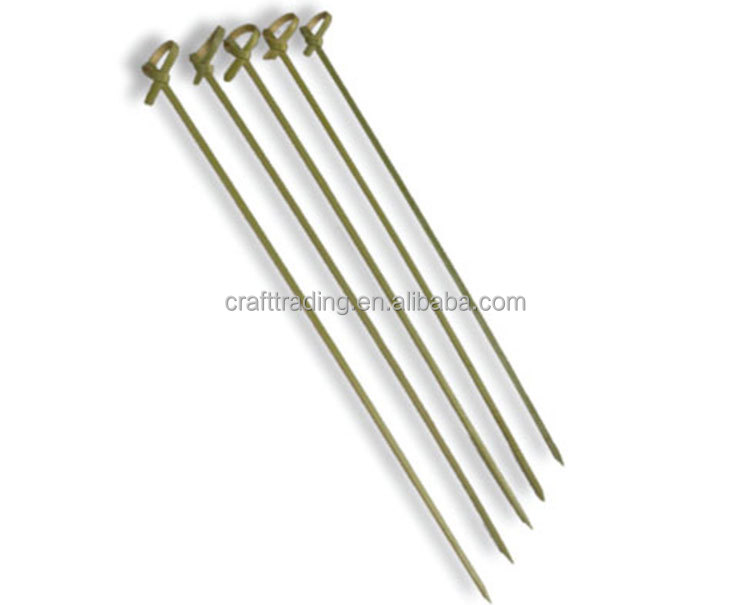 Factory sales disposable bamboo barbecue skewer set with flowers