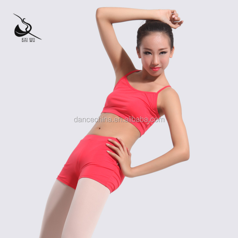 11311110 Colorful Practise Short Camisole Dance Top