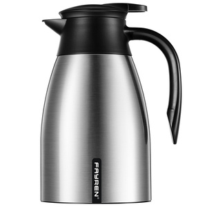High capacity premium thermal coffee carafe vacuum insulated flask 18 /18 stainless steel coffee pot for many people