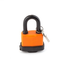 Cheap Price Durable Orange ABS Plastic Coated Safety Door Brass Padlocks Key