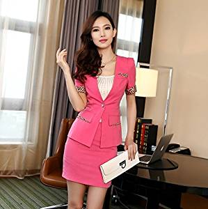 1ba04ccc53 Get Quotations · Fifishow New Spring Summer Ladies Business Suits for Women  Skirt Suits Blazer Leopard Print Female Office