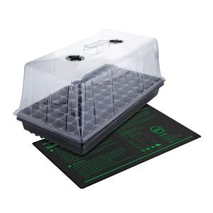 Hot house Heated garden seed propagation germination station kit with seedling heat mat