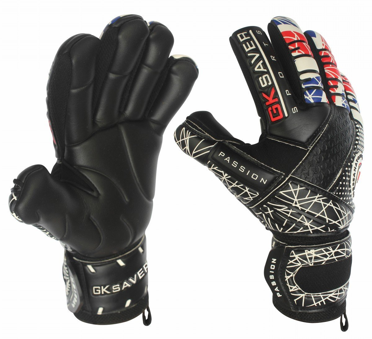 Gksaver Football Goalkeeper Gloves Negative Cut Passion Black//Yellow pro Keeper Quality Gloves Size 6 to 11