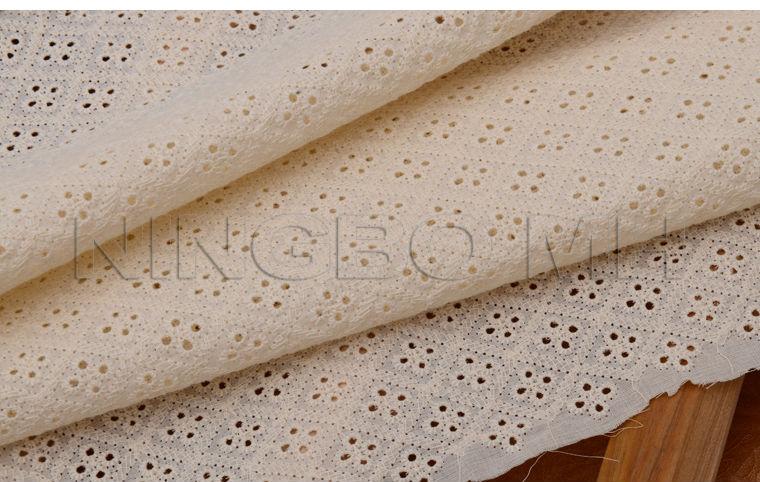 Allover Guipure Embroidery Cotton Lace Fabric