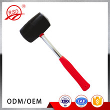 Chinese factory supply heavy duty plastic rubber handle double face rubber sledge hammer