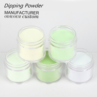 Factory supplies Creat your brand pure colors organic acrylic nails french dipping powder for nail salon use