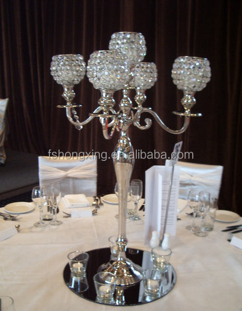 C1002 shabby chic candelabra candelabra for wedding and party table decoration