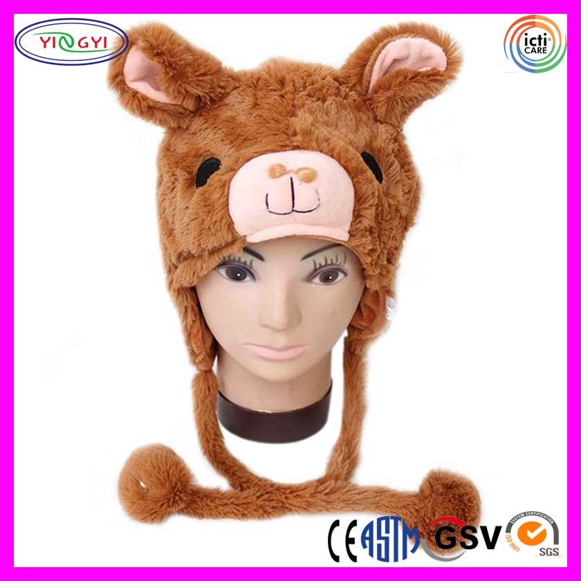 C093 Soft Llama Animal Hat With Ear Flap Head Mask Furry Animal Hood Cap  Llama Head Mask - Buy Llama Head Mask,Animal Hood Cap Llama Head Mask,Llama
