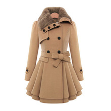 ZH01813B 2016 nouveau style mode longue laine <span class=keywords><strong>trench</strong></span> <span class=keywords><strong>femmes</strong></span> manteaux d'hiver