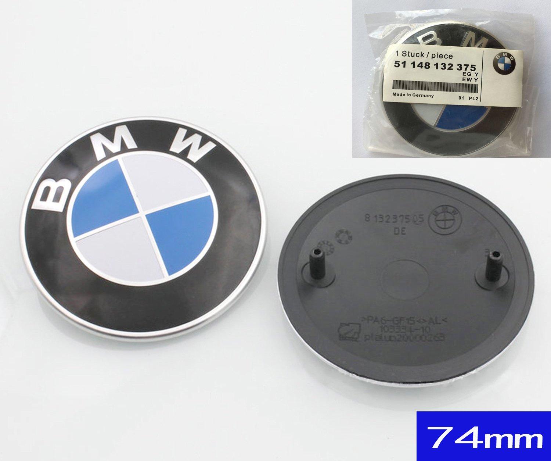 74mm BMW 2 Pin Replacement Badge Emblem Logo Rear Trunk for BMW E46 E90 E82  1 3 TRUNK EMBLEM 1pc