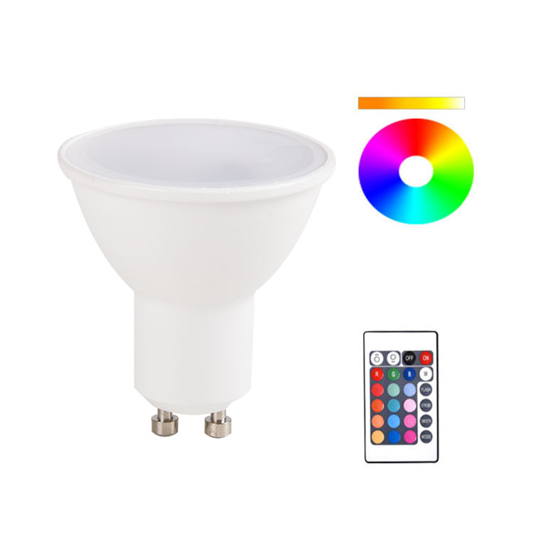 4.5 W 250lm Gu10 Lamphouder Lamp RF Afstandsbediening Dimbare LED Spotlight RGB Spot Light