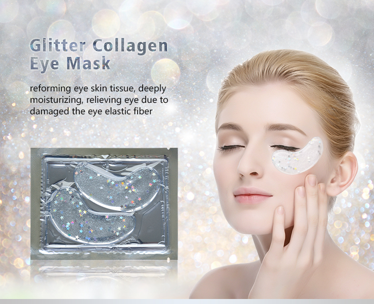 Dark Circle Oem Skin Anti Wrinkle Collagen Crysta Masks Moisturizing Care Eye Mask Glitter