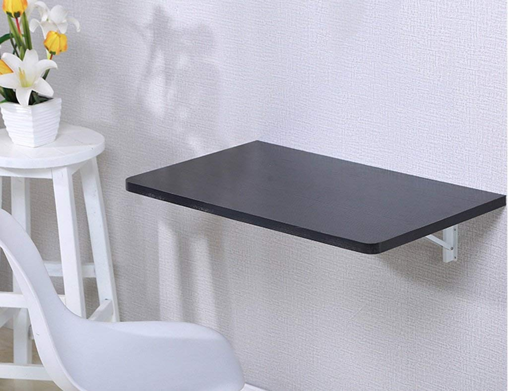 Mmdp Computer Desk Office Table Wall-mounted Laptop Desk Foldable Dining Table Learning Table Color Size Optional (Color : Black, Size : 9050cm)