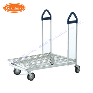 Heavy duty shopping used metal hand push cart with handle