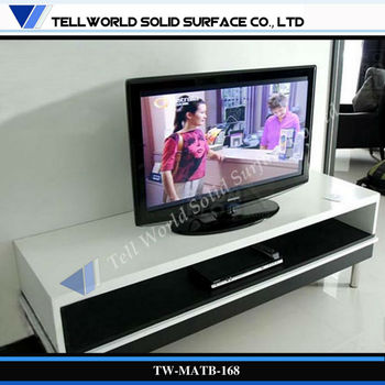 Superb White Acrylic TV Table