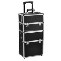 Aluminium Beauty Trolley Vanity Case Make up Cosmetic Box