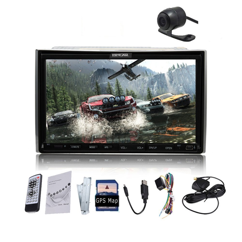 Universal In Video Dash 7 AM FM Inch Car Stereo Car Dvd Player Audio Bluetooth Microphone GPS Navigation USB Radio iPod Double 2 Car Stereo Din Touchscreen Car DVD Video Player AM/FM Radio Head