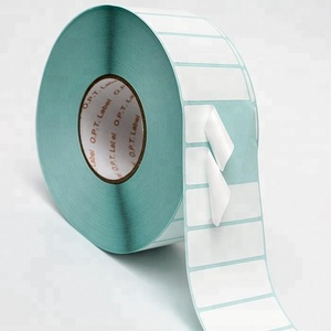 supermarket use roll print thermo transfer label blank barcode sticker
