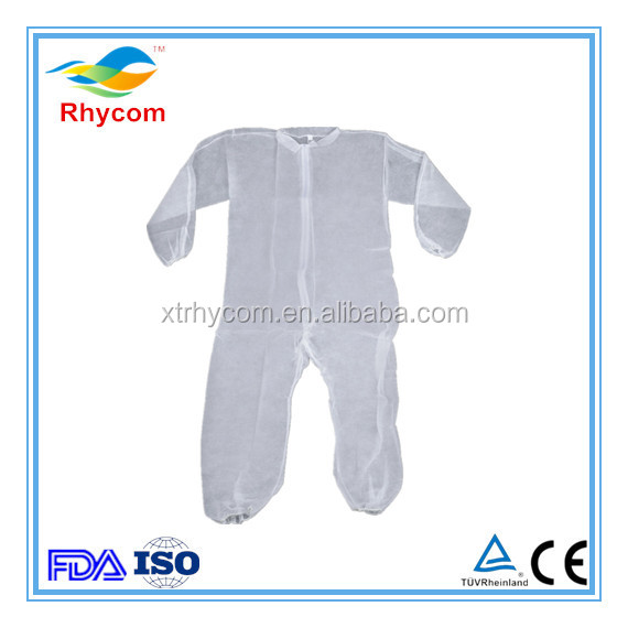 Hood and Booties Disposable Non Woven Protecive Coveralls