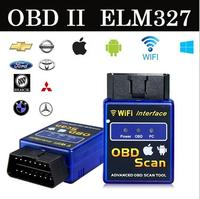Latest elm 327 Wifi bluetooth OBD2 Interface Can-Bus Scanner ELM 327 OBD II Supports Android/IOS/PC System OBD2 Diagnostic Tool